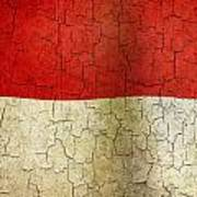 Grunge Indonesia Flag Art Print