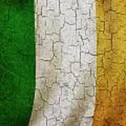 Grunge Ireland Flag Art Print