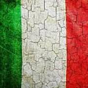 Grunge Italy Flag Art Print