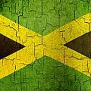 Grunge Jamaica Flag Art Print