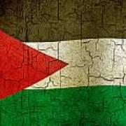 Grunge Jordan Flag Art Print