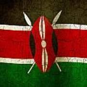 Grunge Kenya Flag Art Print