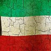 Grunge Kuwait Flag Art Print