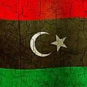 Grunge Libya Flag Art Print