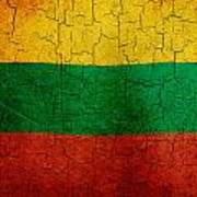 Grunge Lithuania Flag Art Print