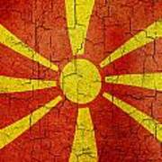 Grunge Macedonia Flag Art Print