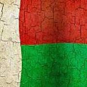 Grunge Madagascar Flag Art Print