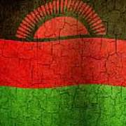 Grunge Malawi Flag Art Print