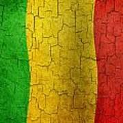 Grunge Mali Flag Art Print