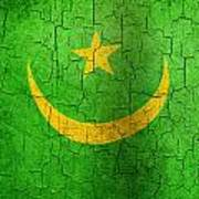 Grunge Mauritania Flag Art Print