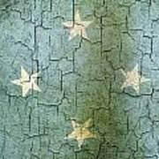 Grunge Micronesia Flag Art Print