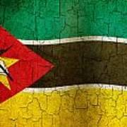 Grunge Mozambique Flag Art Print