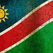 Grunge Namibia Flag Art Print