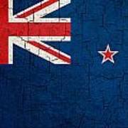 Grunge New Zealand Flag Art Print