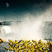 Grunge Niagara Art Print