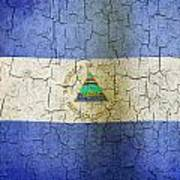 Grunge Nicaragua Flag Art Print