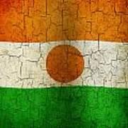 Grunge Niger Flag Art Print