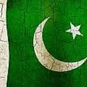 Grunge Pakistan Flag Art Print