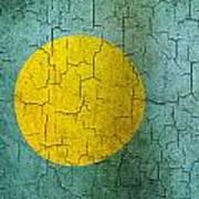 Grunge Palau Flag Art Print