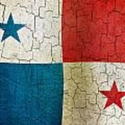 Grunge Panama Flag Art Print