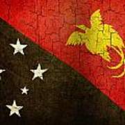Grunge Papua New Guinea Flag Art Print