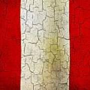 Grunge Peru Flag Art Print