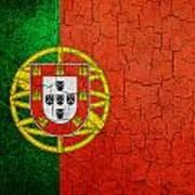 Grunge Portugal Flag Art Print
