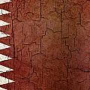 Grunge Qatar Flag Art Print