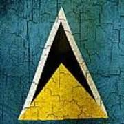 Grunge Saint Lucia Flag Art Print