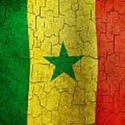 Grunge Senegal Flag Art Print