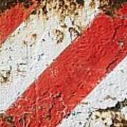 Grunge Stripe Background Art Print