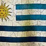 Grunge Uruguay Flag Art Print