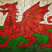 Grunge Wales Flag Art Print