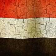 Grunge Yemen Flag Art Print