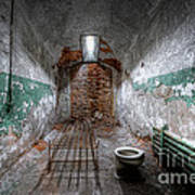 Grungy Prison Cell Art Print