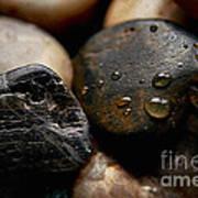 Rocks And Drops Art Print