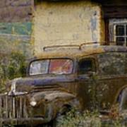 Grungy Vintage Ford Panel Truck Art Print