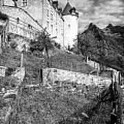 Gruyeres Castle Bw Art Print
