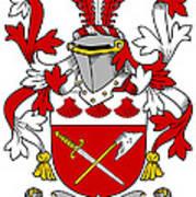 Grymes Coat Of Arms Irish Art Print
