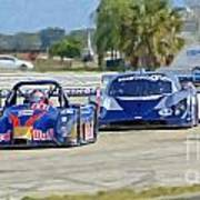 Gtp Prototypes Taking 4 At Sebring Art Print