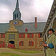 Guard At King's Bastion In Louisbourg Living History Museum-1744 Art Print