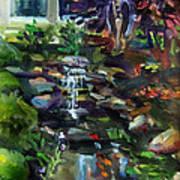 Guardian Angel And Koi Pond Art Print