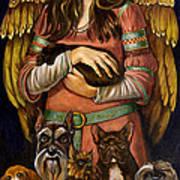 Guardian Angel Of Dogs Art Print