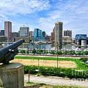 Guarding Baltimore Print by Olivier Le Queinec