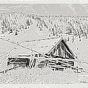 Guarding Grandpa's Cabin Art Print