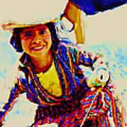Guatemala Fisher Boy Smiling Art Print