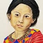Guatemala Girl  Art Print