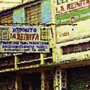 Guatemalan Street Billboard Art Print