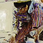 Guatemalan Fisher Boy Art Print