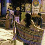 Guatemalan Girl With Shawl Art Print